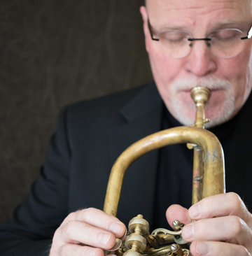 Bruce Daugherty playing flugelhorn
